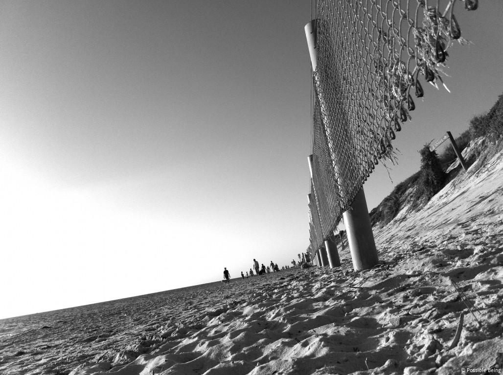 Beach Fence Angled Perspective